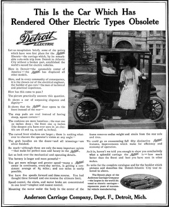 Detroit Electric Cars -1900'sA