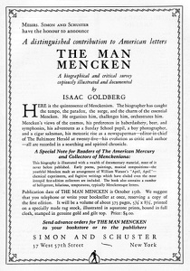 The Man Mencken -1925A