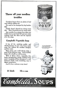 Campbell's Vegetable Soup -1920A