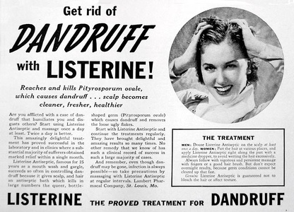 Listerine for Dandruff -1940A