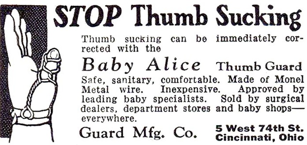 Baby Alice Thumb Guard -1931A