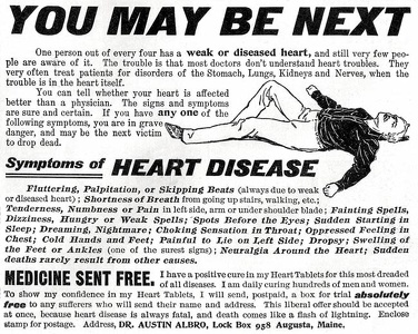 Albro's Heart Tablets -1899A