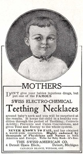 Swiss Electro-Chemical Teething Necklace -1900A