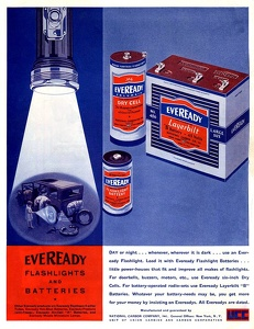 Eveready Flashlights and Batteries -1931A