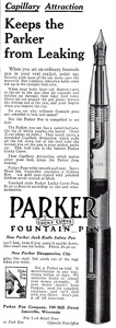 Parker Lucky Curve Fountain Pens -1910A