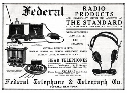 Federal Radio Products -1922A