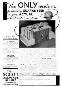 Scott Receivers -1932A