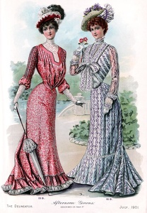 Delineator 1901-07a Afternoon Gowns