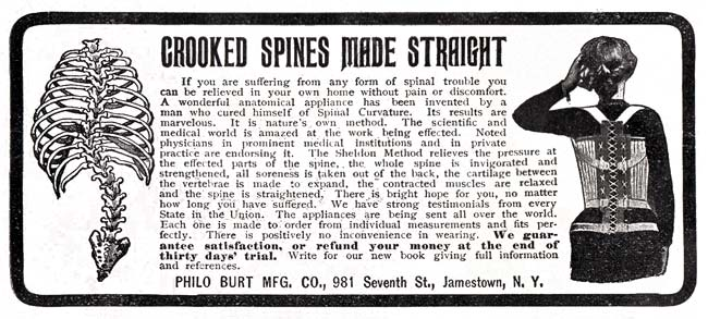 Sheldon Appliance Spine Straightener -1916A