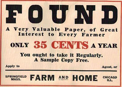 Farm and Home Ad Poster