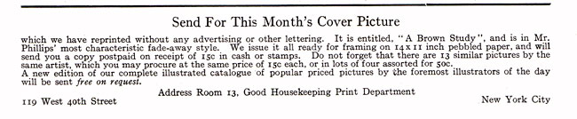 Good Housekeeping 1915-02 Cover Picture Sale