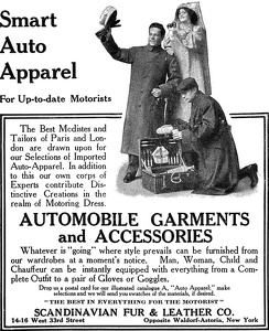 Scandanavian Fur and Leather Automobile Garments -1910A