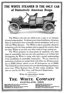White Steam Cars -1903A