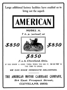 American Motor Carriage Company -1903A