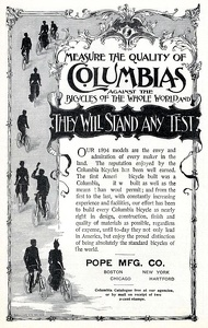 Columbia Bicycles -1894A