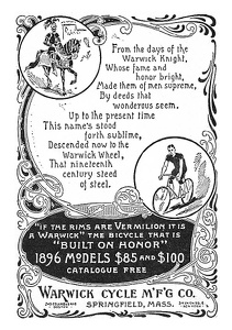Warwick Bicycles -1896A