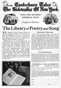 Library of Poetry and Song -1925A