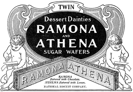 Ramona and Athena Sugar Wafers -1901A