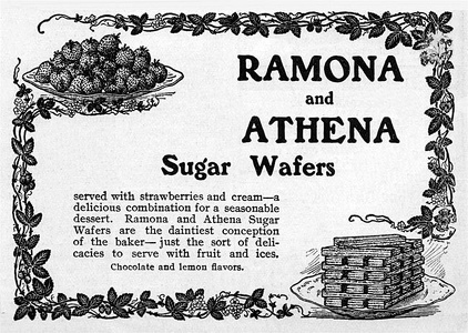 Ramona and Athena Sugar Wafers -1901B