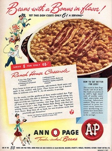 A and P Canned Beans -1947A