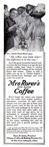 Mrs. Rorer's Own Blend Coffee -1912A
