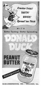 Donald Duck Peanut Butter -1946A