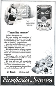 Campbell's Vegetable Soup -1920B