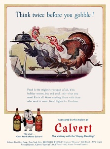 Calvert Whiskey -1944A