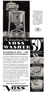 Voss Washing Machines -1931A