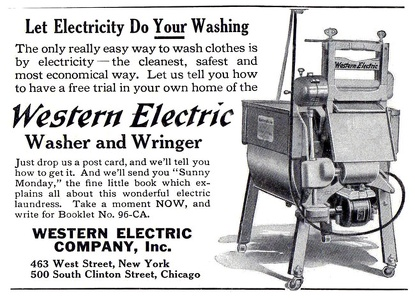 Western Electric Washer and Wringer -1915A