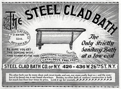 Steel Clad Bath Tubs -1896A