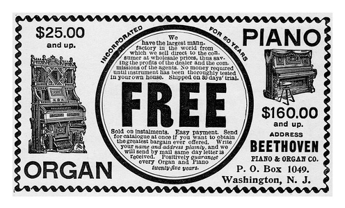 Beethoven Piano and Organ Company -1897A