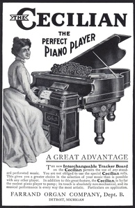 Cecilian Piano Player -1900'sA