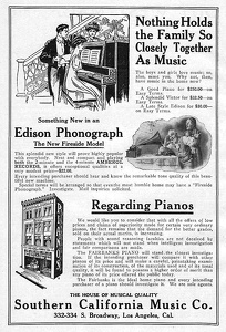 Southern California Music Co. -1909A
