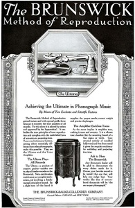 Brunswick Phonographs -1919A