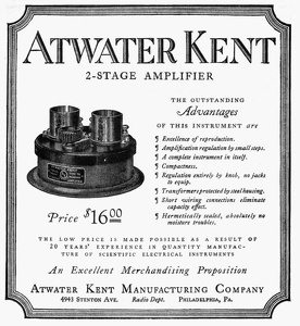 Atwater Kent Amplifiers -1922A