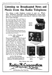 Radio Corporation of America -1922A
