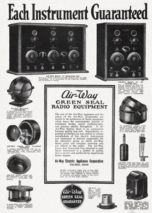 Air-Way Radio Equipment -1922A