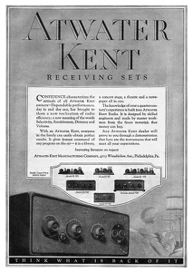 Atwater Kent Radios -1925A