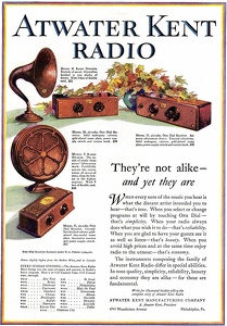 Atwater Kent Radios -1927A