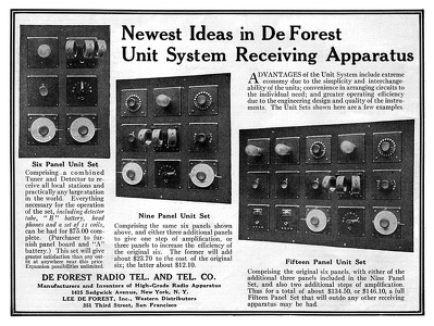 De Forest Receiving Sets -1921A