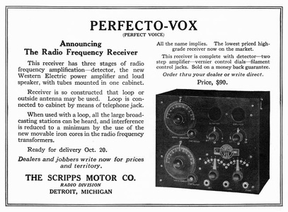 Perfecto-Vox Receivers -1922A