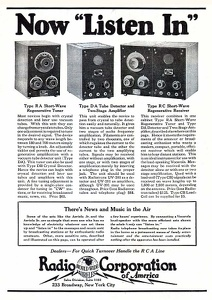 Radio Corporation of America -1922C