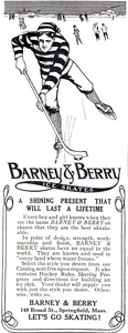 Barney & Berry Ice Skates -1912A